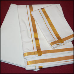 Pure 100% Premium Cotton  Dhoti (Temple - Tem468J) - Click here to View more details about this Product