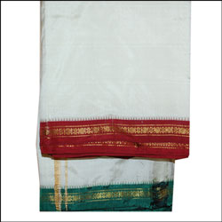 Pattu Dhoti with Kanduva Mama Alludu (small zaree border) - Click here to View more details about this Product