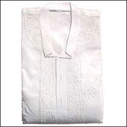 Mens White Cotton Kurta & Payjama - Click here to View more details about this Product