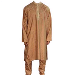 Silk Kurta Pyjama  - Brown - Click here to View more details about this Product