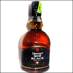 Send Directors Special Black Deluxe Whisky To India