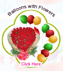 Blown Balloons with Flowers