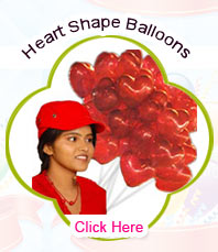 Blown Heart Shape Balloons
