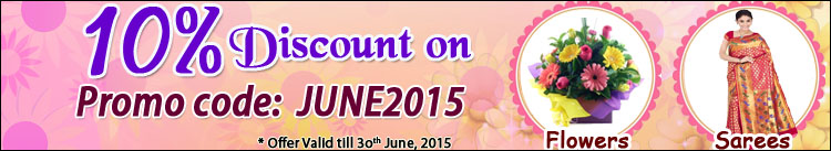 10% Discount on Flowers&Sarees