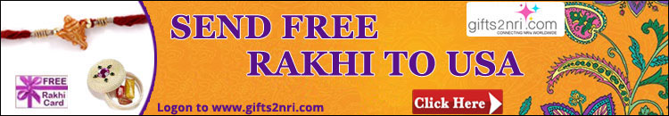 Send Free Rakhi to USA
