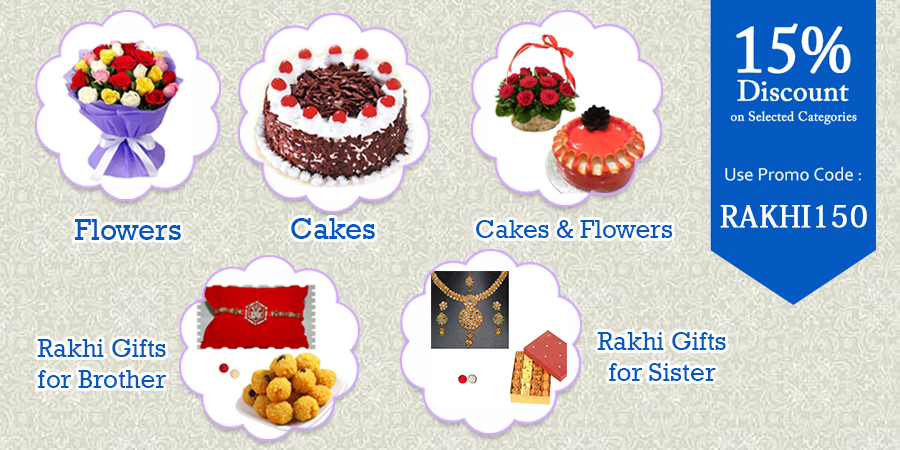 15%OFF on Rakhi Gifts